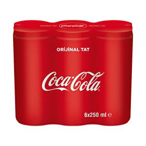 Coca-Cola Kutu 250 ml 6'lı Paket buyuk 1