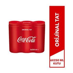 Coca-Cola Kutu 250 ml 6'lı Paket buyuk 2