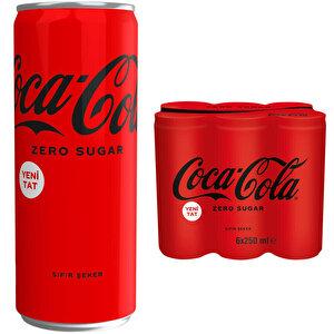 Coca-Cola Şekersiz Kutu 250 ml 6'lı Paket buyuk 1