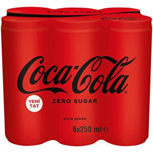 Coca-Cola Şekersiz Kutu 250 ml 6'lı Paket buyuk 3