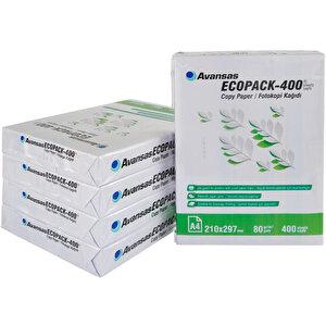 Avansas Ecopack-400 A4 80 gr 1 Koli (2000 Yaprak) Fotokopi Kağıdı