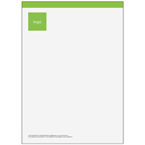 Antetli Kağıt 100 Adet - Klasik Antetli Kağıt Yeşil buyuk 1