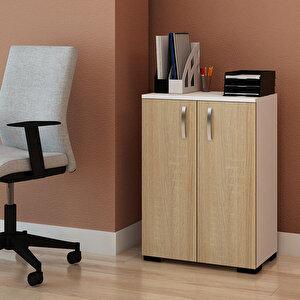 Avansas Comfort Çok Amaçlı 2 Kapaklı Dolap Beyaz / Endülüs Meşe buyuk 3