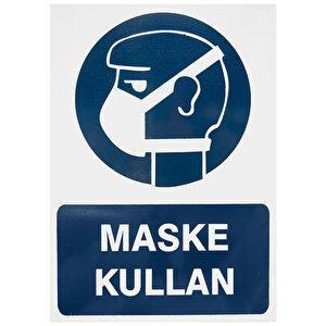 Maske Kullan PVC Dekota Uyarı Levhası P1D-02104 buyuk 1