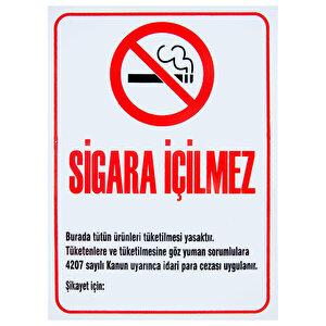 Sigara İçilmez PVC Dekota Uyarı Levhası P1D-02138 buyuk 1