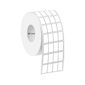 Tanex Eco Termal Barkod Etiketi 20 mm x 40 mm 2 Rulo