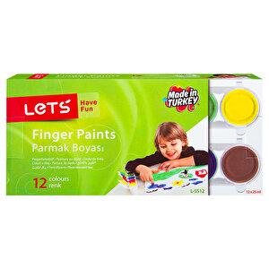 Lets L-5512 Parmak Boyası 12 Renk buyuk 1