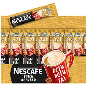 Nescafe 3'ü 1 Arada Sütlü Köpüklü 17,5 gr 72'li Paket buyuk 1