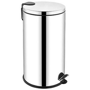 Rulopak RSC-0204 Pedallı Paslanmaz Çöp Kovası 40 lt