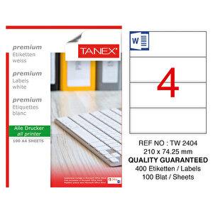 Tanex Tw-2404 Lazer Etiket 210 mm x 74,25 mm buyuk 1