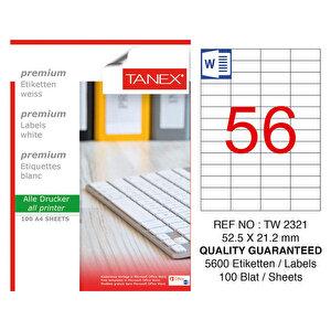 Tanex Tw-2321 Beyaz Etiket 52.5 mm x 21.2 mm buyuk 1