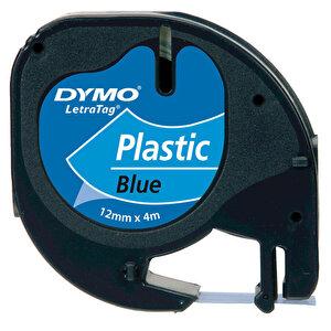 Dymo Letratag Plastik Etiket 12 mm x 4 m Mavi buyuk 1