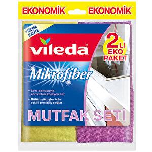 Vileda Mutfak + Konfor Mikrofiber Temizlik Bezi 2'li Eko Paket buyuk 1