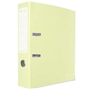 Avansas Colours Plastik Klasör Geniş A4 Pastel Işıl Sarısı buyuk 1