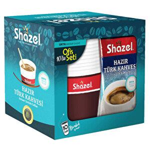 Shazel Hazır Türk Kahvesi Seti Orta 10'lu Paket