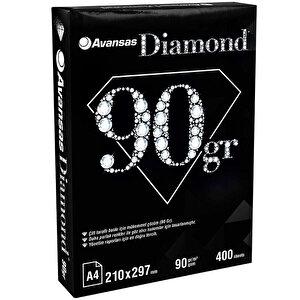 Avansas Diamond A4 Fotokopi Kağıdı 90 gr 1 Paket (400 Sayfa) buyuk 1