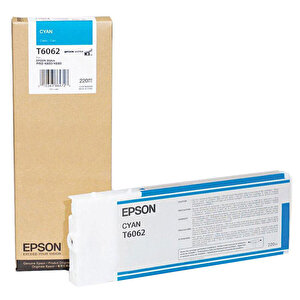 Epson T606200 Kartuş Mavi (Cyan) 220 ml buyuk 1
