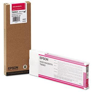 Epson T606300 Vivid Kartuş Kırmızı (Magenta) 220 ml buyuk 1