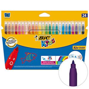 Bic Kids Couleur 841800 Keçeli Boya Kalemi 24'lü Paket buyuk 1