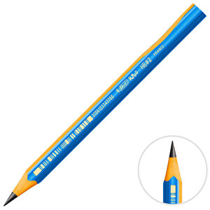 Bic Kids Evolution 919262 Üçgen Jumbo Kurşun Kalem Mavi 12'li Paket buyuk 1