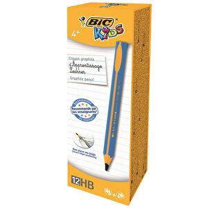 Bic Kids Evolution 919262 Üçgen Jumbo Kurşun Kalem Mavi 12'li Paket buyuk 2