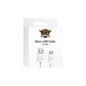 Buff Micro USB Beyaz Şarj Kablosu 1 m
