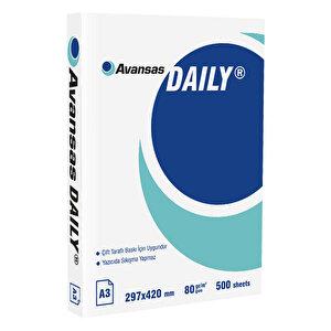 Avansas Daily A3 Fotokopi Kağıdı 80 gr 1 Paket (500 sayfa)