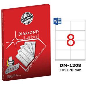 Diamond DM-1208 Beyaz Etiket 105 mm x 70 mm buyuk 1