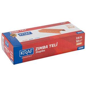 Kraf 255G Zımba Teli No: 24/6 Sarı 1000'li Kutu buyuk 2