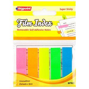 Bigpoint BP820 Yapışkanlı Not Kağıdı Index 5 Renk 125 Yaprak