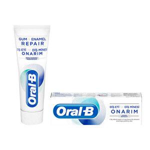 Oral-B Diş Eti ve Diş Minesi Onarım Hassas Beyazlık Diş Macunu 75 ml buyuk 1