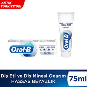 Oral-B Diş Eti ve Diş Minesi Onarım Hassas Beyazlık Diş Macunu 75 ml buyuk 2