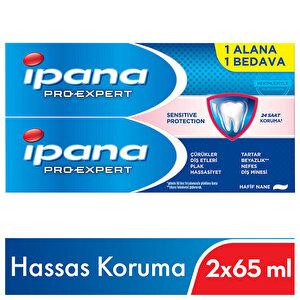 İpana Pro-Expert Hassas Koruma Diş Macunu 2 x 65 ml 1 Alana 1 Bedava buyuk 2