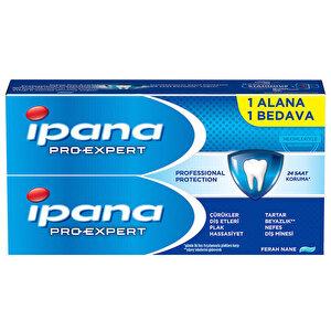 İpana Pro-Expert Profesyonel Koruma Diş Macunu 2 x 65 ml 1 Alana 1 Bedava