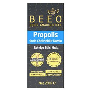 Bee'O Propolis Suda Çözünebilir Takviye Edici Damla 20 ml buyuk 1