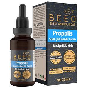 Bee'O Propolis Suda Çözünebilir Takviye Edici Damla 20 ml buyuk 2