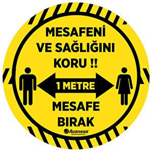 Avansas Mesafe Bırak Uyarı Etiketi Sarı buyuk 1