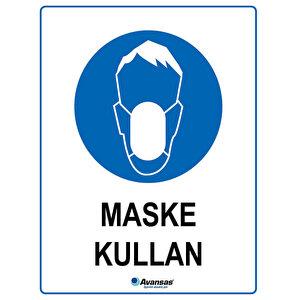 Avansas Maske Kullan Uyarı Etiketi buyuk 1