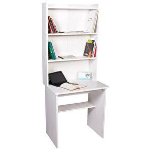 Kitaplıklı Çalışma Masası Beyaz buyuk 3