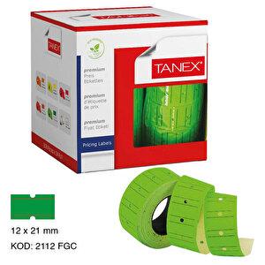 Tanex Motex Çizgili Yeşil 12 mm x 21 mm Fiyat Etiketi 24'lü Paket buyuk 1