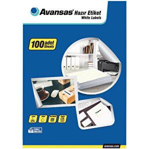 Avansas AV-1021 Beyaz Etiket 63,5x38,1 mm  21'li buyuk 2