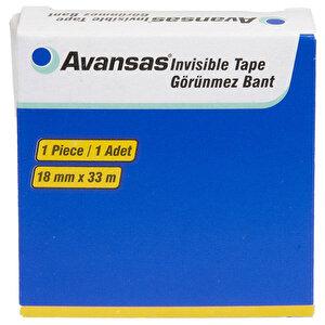 Avansas Invisible Görünmez Bant 18 mm x 33 m Tekli buyuk 1