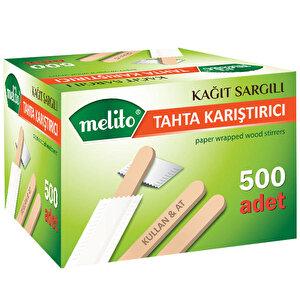 Melito Tahta Karıştırıcı Kağıt Sargılı 11 cm 500'lü Paket buyuk 1