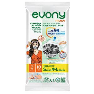 Evony Maske 3 Katlı Trendy 10'lu Paket S/M buyuk 2