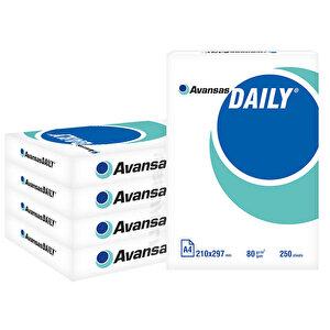 Avansas Daily A4 Fotokopi Kağıdı 80 gr 1 Koli (1250 Yaprak) buyuk 1