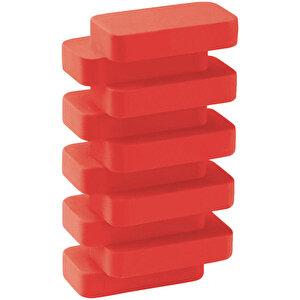 Serve Steps Fosforlu Kırmızı Silgi Tekli buyuk 2