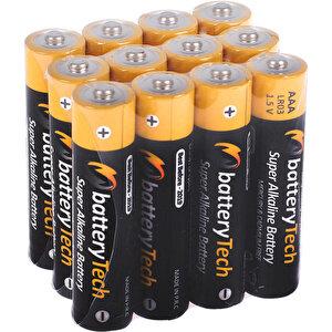 Battery Tech Süper Alkalin AAA İnce Kalem Pil 12'li Paket buyuk 1