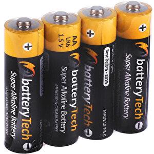 Battery Tech Süper Alkalin AA Kalem Pil 12'li Paket