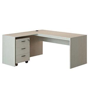 Avansas Comfort Çalışma Masası Takımı 160 cm Akçaağaç (Masa + Keson)