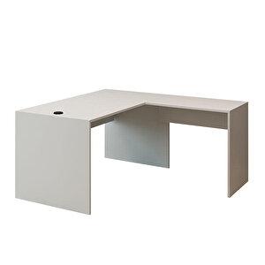 Avansas Comfort L Çalışma Masası 140 cm Beyaz buyuk 1